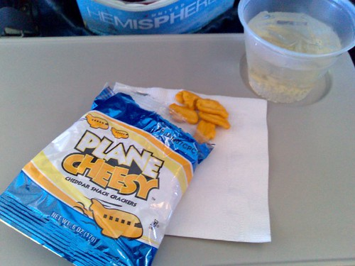 Plane Cheesy snacks