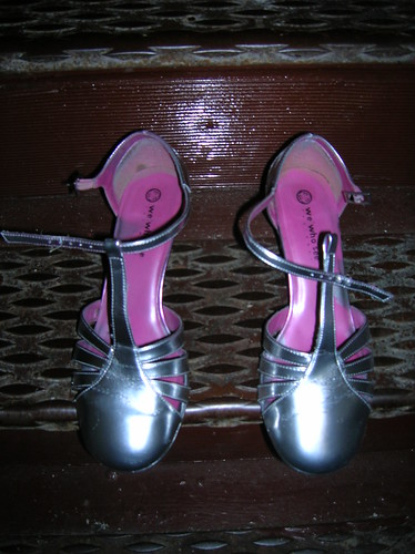 pink shoes - after (silver shoes)
