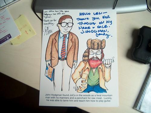Coulton/Hodgman autograph