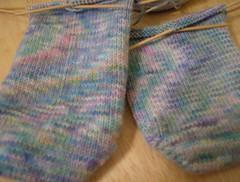 Watercolor socks closeup