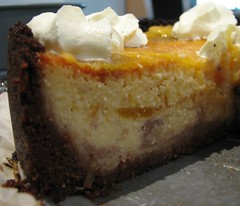 Baked Mango Cheesecake - cut