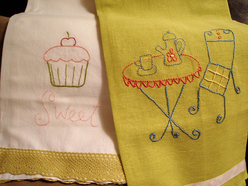 beautiful towels stitched by Jackie