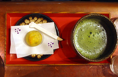 a sweet & a nice bowl of matcha (green tea)