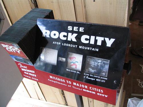 Rock City Brochure dispenser