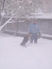 Del & Majc in the snow