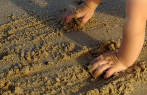 Ela e a areia