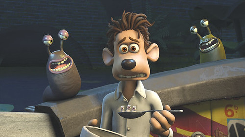Hugh Jackman voices a mouse character who is 'Flushed Away'.
