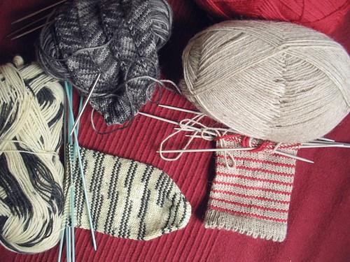 new sock WIPs