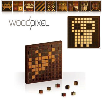 DIY Wood Pixel Art