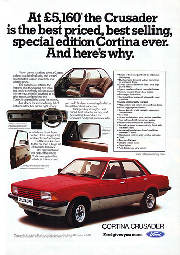 Ford Cortina Crusader Retro Advert