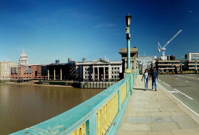 Southwark Bridge across the River Thames in London