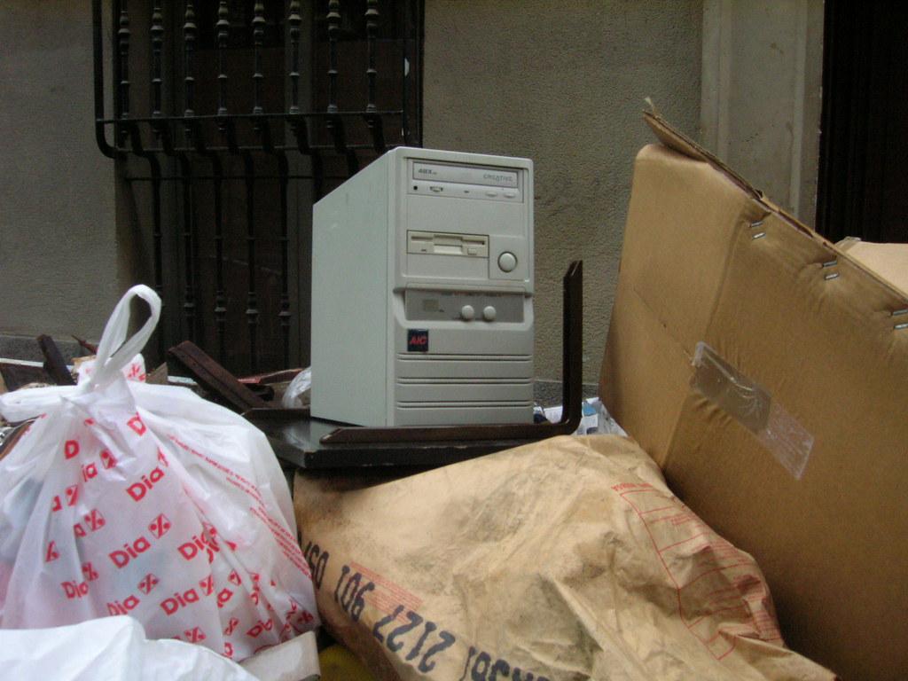 Trashed computer
