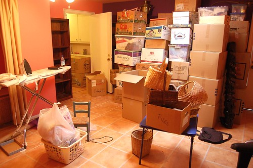 packing the sewing room