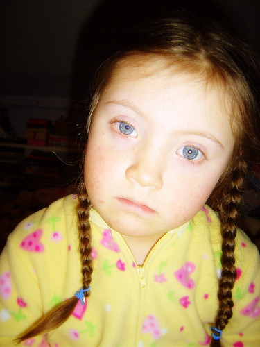 Miss Blue-eyes....ready for bed