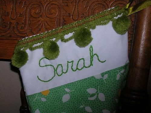 """""""Sarah's stocking"""" width=""""200"""""""