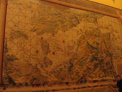 5458f Map tapestry