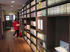 Hallways lined with manga