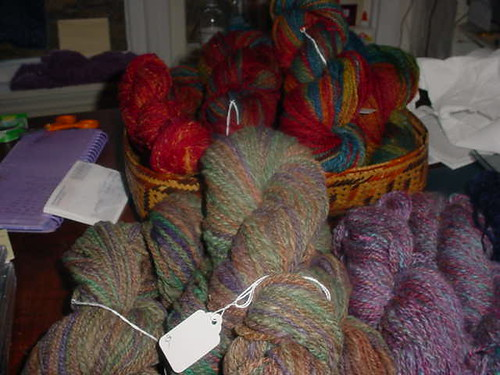 Corriedale, mostly, and mohair