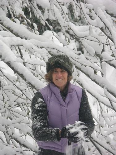 Snow ball in Roberts Creek