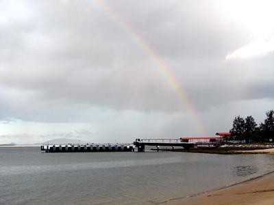 Rainbow at Changi Beach