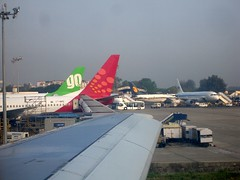 Busy apron at Bombay Airport