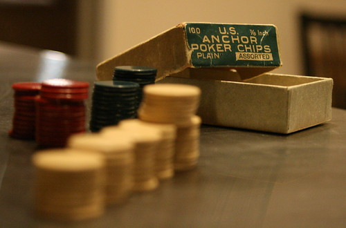 oldy old-style poker chips