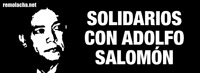 Solidaridad con Adolfo Salomón