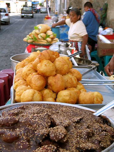 mole and buñuelos