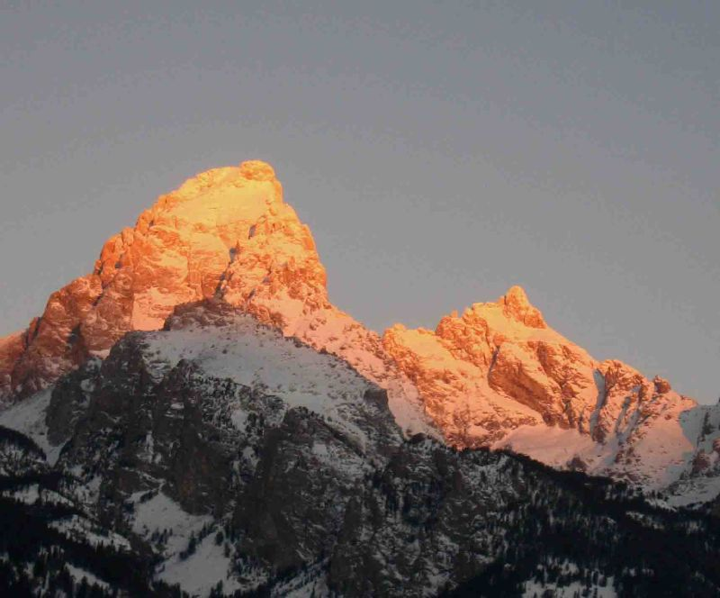 Sunrise on the Grand and Mt Owen