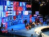 Final Preparations to the CNN Debate Set - Sunday, June 3