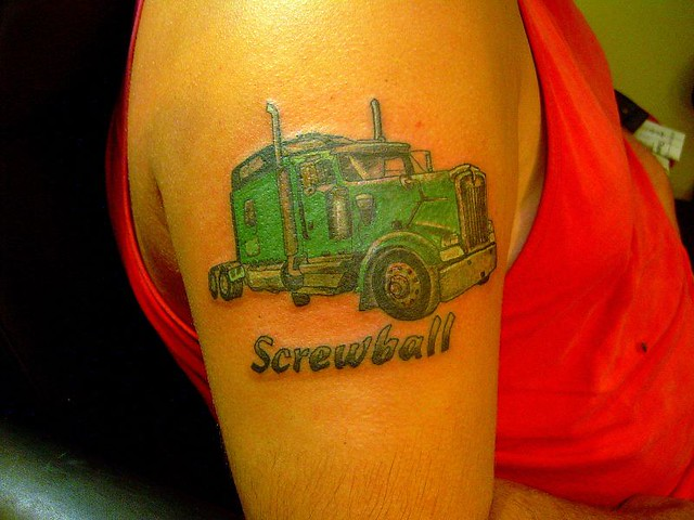 Semi Truck Tattoos Truck Tattoos