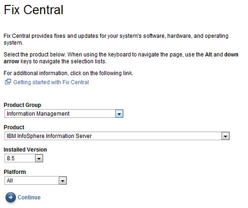 DataStage XML on Fix Central