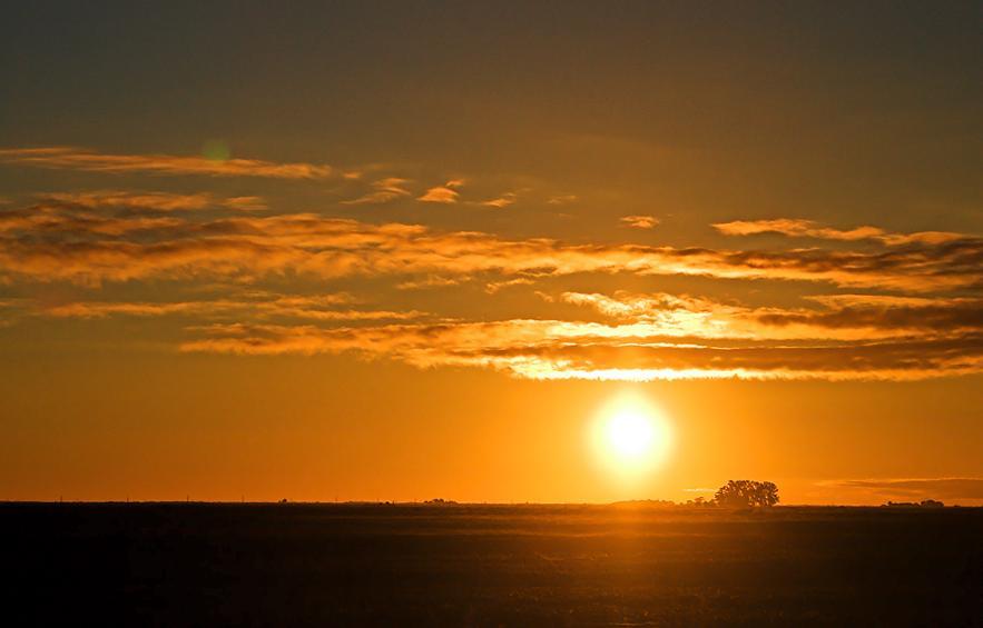 Argentine sunset