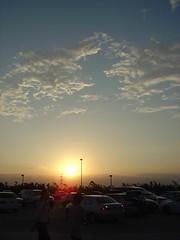 清水休息站的夕陽