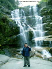 In front of Green Dragon Waterfall