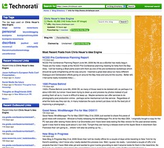 Technorati Responds to Complaints