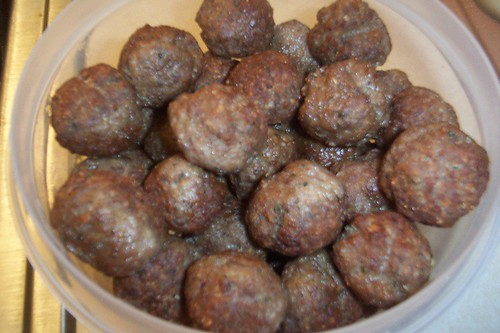 finished meatballs!