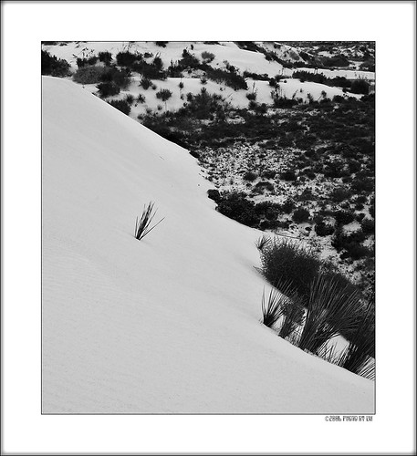 White Sands diagonal BW