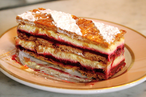 Millefeuille confiture fruits rouges