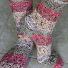 Waving Lace socks, fin