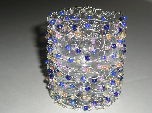 Beaded votive 1