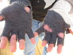 trashed gloves