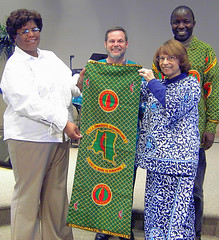 Banner presentation at Cornerstone UMC