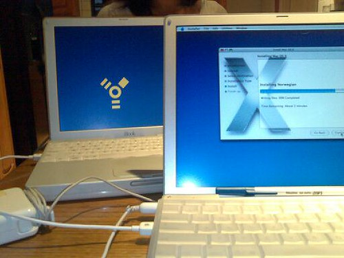 Installing OS X on Allison's Old iBook