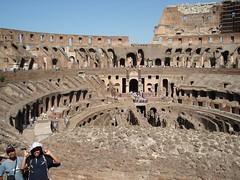 Dalam Colosseum, Rome, Italy