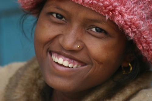 Nepali girl in Kathmandu.