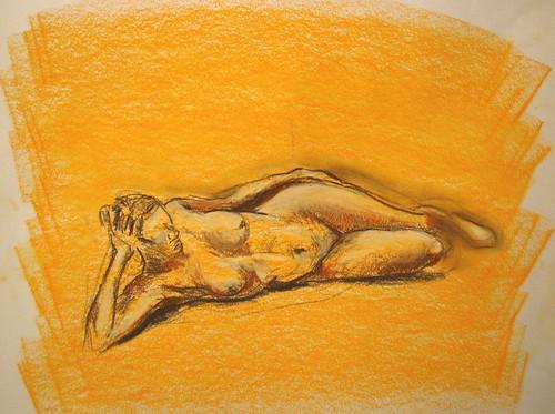 Desnudo - Naranja I