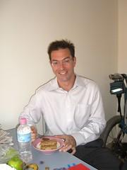Brad having breakfast