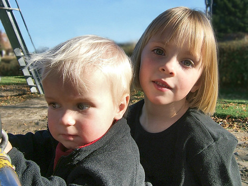 Charlie and Augusta At The Park, Autumn 2006