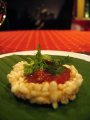 Crispy rice cake with jaew maklen - 3 Nagas